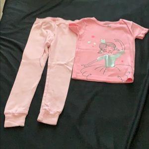 Carter's toddler girls pajama set size 4T